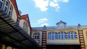 Binnenplaats van Champagne Henriot in Reims.