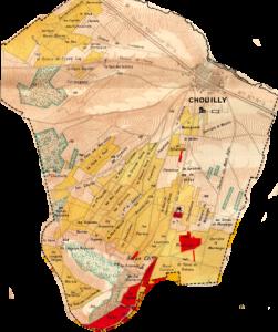 Chouilly (uit de Larmat-atlas van Champagne)